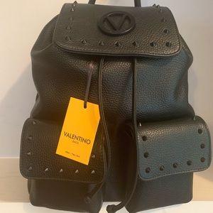 Valentino Simeon Preciosa Black Leather Backpack